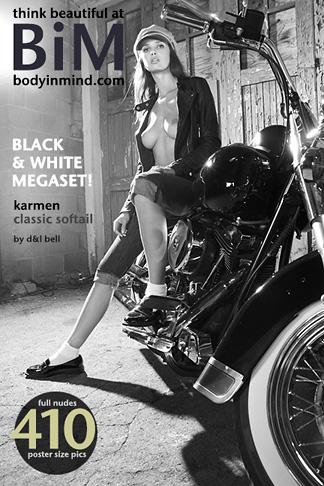 BiM – 2014-10-20 – Karmen – Classic Softail B&W (413) 3456×5184