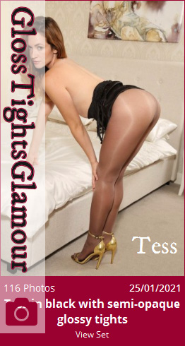 GTG – 2021-01-25 – Tess in black with semi-opaque glossy tights (116) 3840×5760