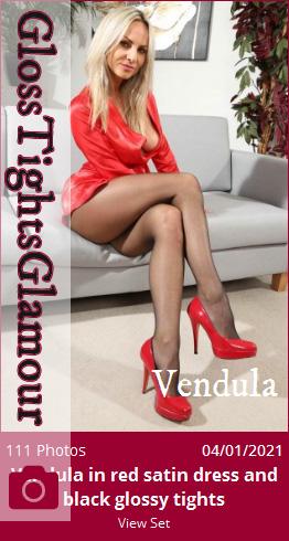 GTG – 2021-01-04 – Vendula in red satin dress and black glossy tights (111) 3840×5760